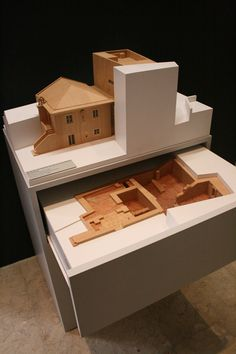 Model for the Núcleo Museográfico de Alverca in Vila Franca de Xira, Portugal by Isabel Aires and José Cid Architects