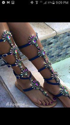shoes flat sandals rhinestones embellished sandals