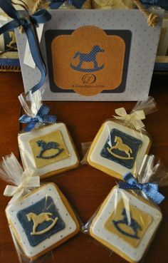 Rocking horse cookies for a baptism!