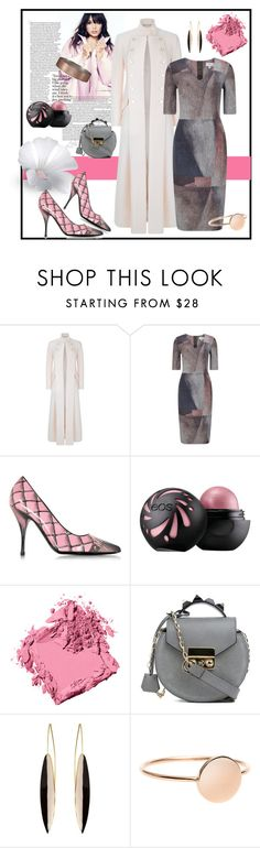 """""""Grey and Pink Contest"""" by freida-adams ❤ liked on Polyvore featuring Temperley London, Jigsaw, Moschino, Bobbi Brown Cosmetics, SALAR and Abercrombie & Fitch"""