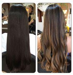 Up de cabelo Hair up Long Hair Highlights, Brown Hair Balayage, Brown Blonde Hair, Balayage Brunette, Hair Color Balayage, Hair Color For Black Hair, Fall Highlights, Long Brunette, Brunette Highlights