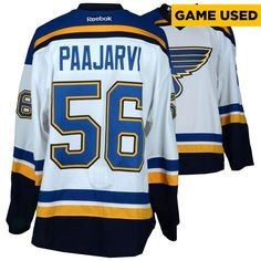 Magnus Paajarvi St. Louis Blues Fanatics Authentic Game-Used 2016-17 50th Anniversary Season Set 1 Road White Jersey - Worn From October 12, 2016 Through November 23, 2016