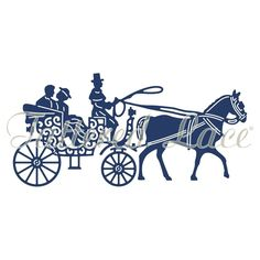 Tattered Lace Horse and Carriage Die, Silver: Amazon.co.uk: Kitchen & Home