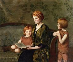 The Story Hour by Lilla Cabot Perry (1848 – 1933, American)