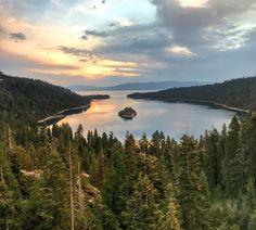 Sunrise over Emerald Bay, South Lake Tahoe