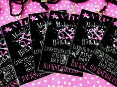 Rock Star Party Backstage Pass Invitations