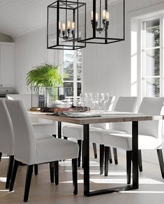 Stockholm Vitt - Interior Design: Happy September! Dining Room Walls, Dining Room Design, Living Room Modern, Home And Living, Scandinavian Modern, Dinner Room, Modern Home Interior Design, Elegant Dining Room, Decor Room