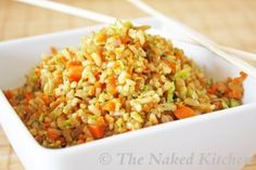 Crispy fried brown rice...I've never cooked with peanut oil before...