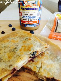 Coconut Almond Butter Banana Blueberry Quesadillas