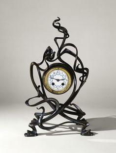 Art Nouveau and Art Deco, Victor Horta clock, Design Art Nouveau, Jugendstil Design, Antique Clocks, Belle Epoque, New Art, Antique Jewelry, Arts And Crafts, Retro, Antiques