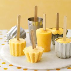 Orange -banana smoothie pops