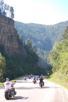 Spearfish Canyon - possibly the best motorcycle ride in the Black Hills? pictures look nice, memories are incredible. Sturgis Motorcycle Rally, Motorcycle Travel, Motorcycle Rides, Bike Rally, Places To Travel, Places To See, Spearfish Canyon, Vacation Spots, Vacation Destinations