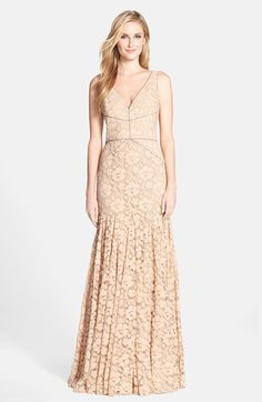 Vera Wang Lace Mermaid Gown available at #Nordstrom