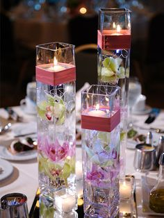 9. Decorative Candle Stand: All you need to create with these decorative candle stands are glasses that can be filled with either flowers or coloured pebbles; then stick in your candles. Pick scented, colourful candles that will add a festive glow to your home.Tip: You can pick tall glasses or even use wine glasses for the same for a more festive feel.Image source. junebugweddings.com