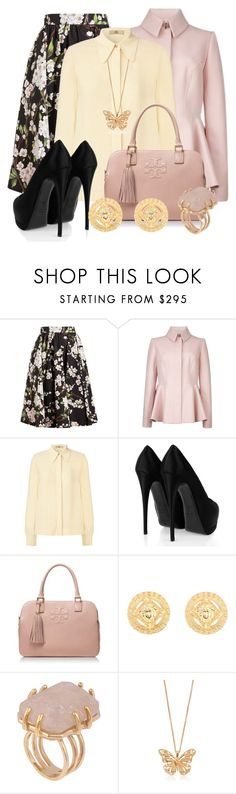 """Bez naslova #827"" by martina-cciv ❤ liked on Polyvore featuring Dolce&Gabbana, Ted Baker, Orla Kiely, Giuseppe Zanotti, Tory Burch, Versace, Kelly Wearstler and Alexander McQueen"