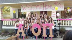 Alpha O's Bid day 2012 AOII Tau Gamma Chapter