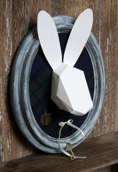 Cadre origami lapin blanc Alice au pays des merveilles - Chambre enfant : Décorations murales par carte-blanche