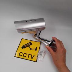 2017 Hot Sale Cctv Surveillance Camera  Fake Camera Safe Simulation Webcam  Monitor Silver Color