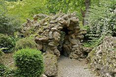 An artificial grotto, garden of the Château de Monte Cristo