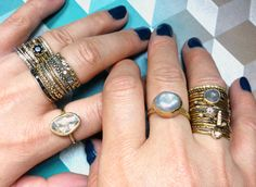 show me your stack : series on Unruly Things, photo from Satomi Kawakita Jewelry