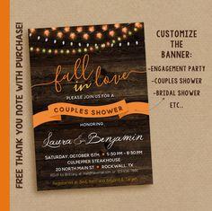 c9a496f9e46 Fall couples shower invitation   Fall bridal shower invitation