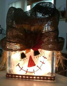 Glass block scarecrow