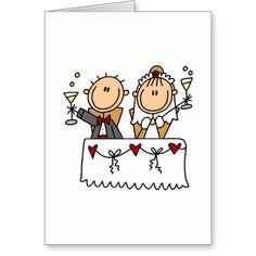 Shop A Toast To The Bride And Groom Card created by stick_figures. Doodle Drawings, Easy Drawings, Doodle Art, Stick Figure Drawing, Drawing Activities, Wood Burning Patterns, Bullet Journal Art, Fun Signs, Cartoon Sketches