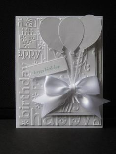 FS381, Birthday in white by jdmommy - Cards and Paper Crafts at Splitcoaststampers
