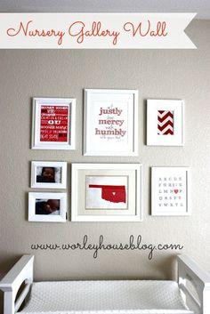 Creating a Nursery Gallery Wall via Worley House Blog