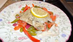 Kathiey's World: Recipe Review Parchment Baked Fish and Tomatoes from Southern Living Magazine Sept 2013