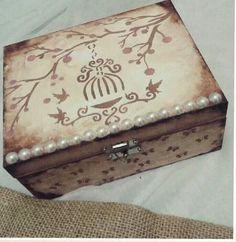Porta joias | Entre Nós Craft Room - Madeira e Papel | Elo7