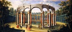 The artwork The Bosquet de la Colonnade at Versailles, early eighteenth century - French School we deliver as art print on canvas, poster, plate or finest hand made paper. Trianon Versailles, Versailles Garden, Louis Xiv, Canvas Prints, Art Prints, French School, Pictures To Paint, Photo Library, Old World