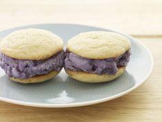Blueberry-Buttermilk Ice Cream Sandwiches - Above & Beyond