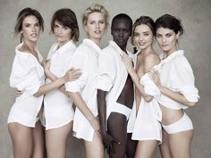 Miranda Kerr, Karolina Kurkova and more top models pose for Pirelli Posing groups of women.