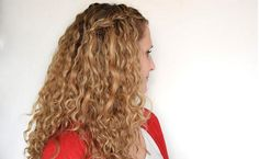 How to waterfall braid naturally curly hair