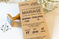 Cet article FAIRE-PART KRAFT NATUREL<br> MARIAGE HÉBRAÏQUE est apparu en premier sur L'Atelier d'Elsa Faire-part - faire-part de mariage et de naissance créé sur mesure, papeterie originale Jour J et carterie évènementielle.
