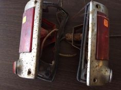 VTG OEM WILLYS Jeep WAGON Tail Lights. PAIR. Complete #WillysOVERLAND