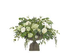 Rose | Hydrangea (WF463): Rose Hydrangea, Cream Green, Urn Esprsso, 36wx27dx25h