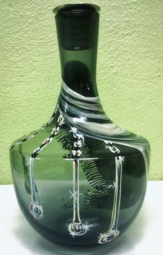 ΓΥΑΛΙΝΟ ΔΙΑΚΟΣΜΗΤΙΚΟ | artflou.gr Glass  bottle #artflou #artflouence #glass #bottle #handmade