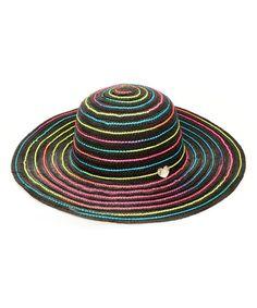468619426b7469 This Black & Rainbow Swirl Sunhat by Betsey Johnson is perfect!
