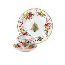 Gedeck 'Old Country Roses Christmas' von Royal Albert