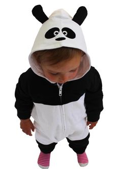 Woah! this panda baby all in one romper is going to cause EXTREME amounts of cuteness! Incredibly soft & mega cute, hooded with ears, What more do you need?