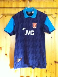 Arsenal Football Club Away Jersey 1994 to 1995 Wright 8 Childrens Extra Large XL