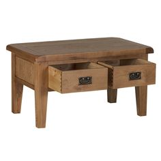 Country Oak Coffee Table With Drawer Shelf Home Interior - Oak coffee table with drawers and shelf