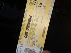 ticket One Direction, Event Ticket