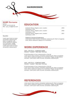sample resumes for hairstylist cosmetologist hairdresser resume - Hair Stylist Resume Samples