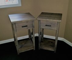 Rustic Nightstand 30in Tall by CraftedByConnor on Etsy https://www.etsy.com/listing/499180895/rustic-nightstand-30in-tall