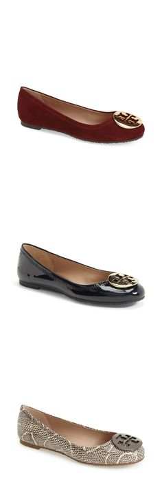 Love the new fall colors for the Tory Burch Reva ballet flat! These shoes are so cute and comfortable - They feel like slippers after you break them in. Always love the free shipping from Nordstrom, too!