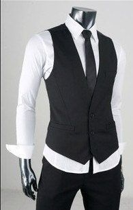 Fashion Classic Stylelish Contrast Men's Vest by beatbbcustom, $24.00