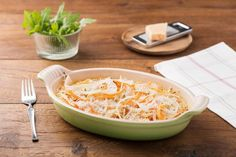 Parsnip and Carrot Gratin with Gruyere Mornay and Greens